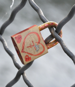 love heart on padlock