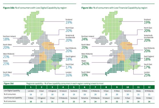 Regional digital skills and financial skills: LBG Consumer Digital Index